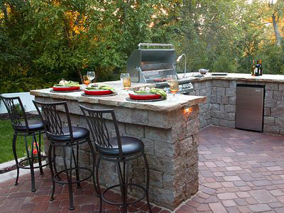 Outdoor Kitchens Can Be As Simple As A Built In Grill Or More Elaborate And  Creative Complete Kitchens With Bar Tops, Refrigerators, ...